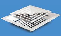 EAPS-UP - алюминиевый квадратный диффузор со съемной средней частью с демпфером