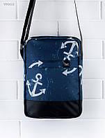 Мужская сумка через плечо Staff anchor принт якорь VF0013