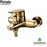 Смеситель для ванны Potato P3009-2 (короткий излив, картридж 40)