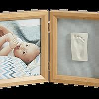 Набор для создания отпечатка ручки и ножки малыша Baby Art Двойная рамка Натуральная