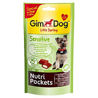 GimDog Little Darling Nutri Pockets Sensitive витамины для кожи и шерсти собак от 1 до 10кг, 50г
