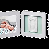 Набор для создания отпечатка ручки и ножки малыша Baby Art Двойная рамка Пастель