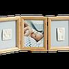 Набор для создания отпечатка ручки и ножки малыша Baby Art Тройная рамка