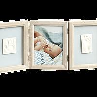 Набор для создания отпечатка ручки и ножки малыша Baby Art Тройная рамка Винтаж