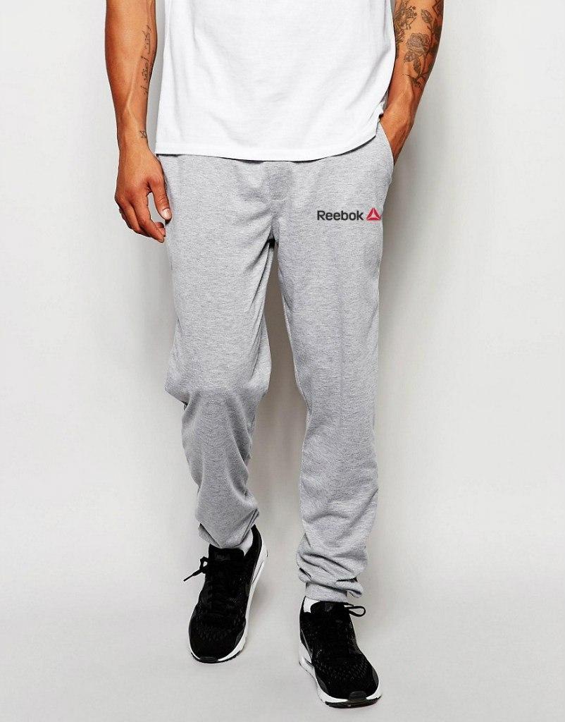 Спортивные штаны Reebok (Рибок), маленький логотип