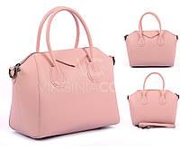Кожаная сумка цвета пудри