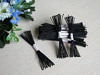 Тайские тычинки, черные, мелкие на черной нити, 23-25 нитей, 50 головок