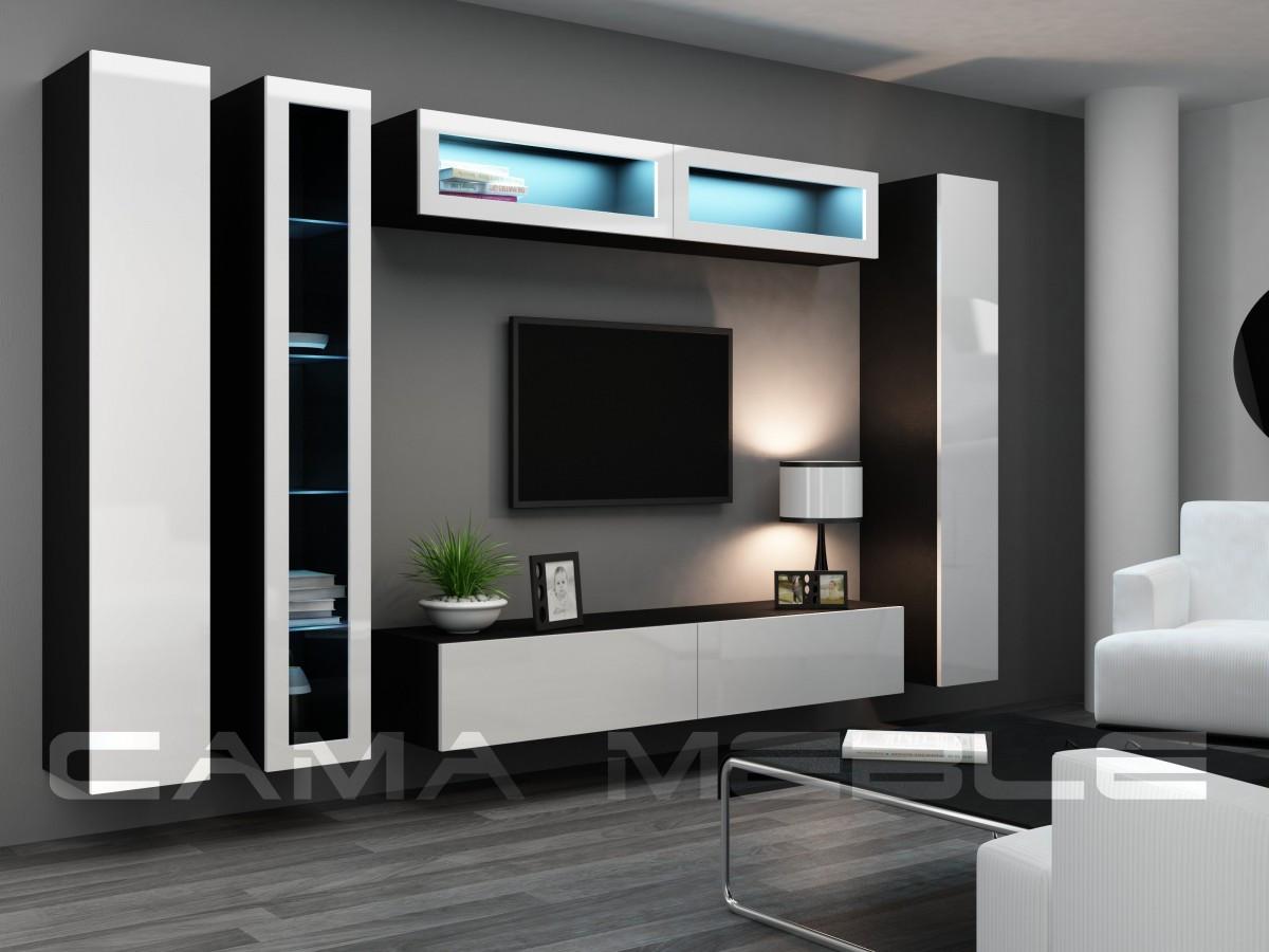 Гостиная Vigo VI Cama черный/белый глянец