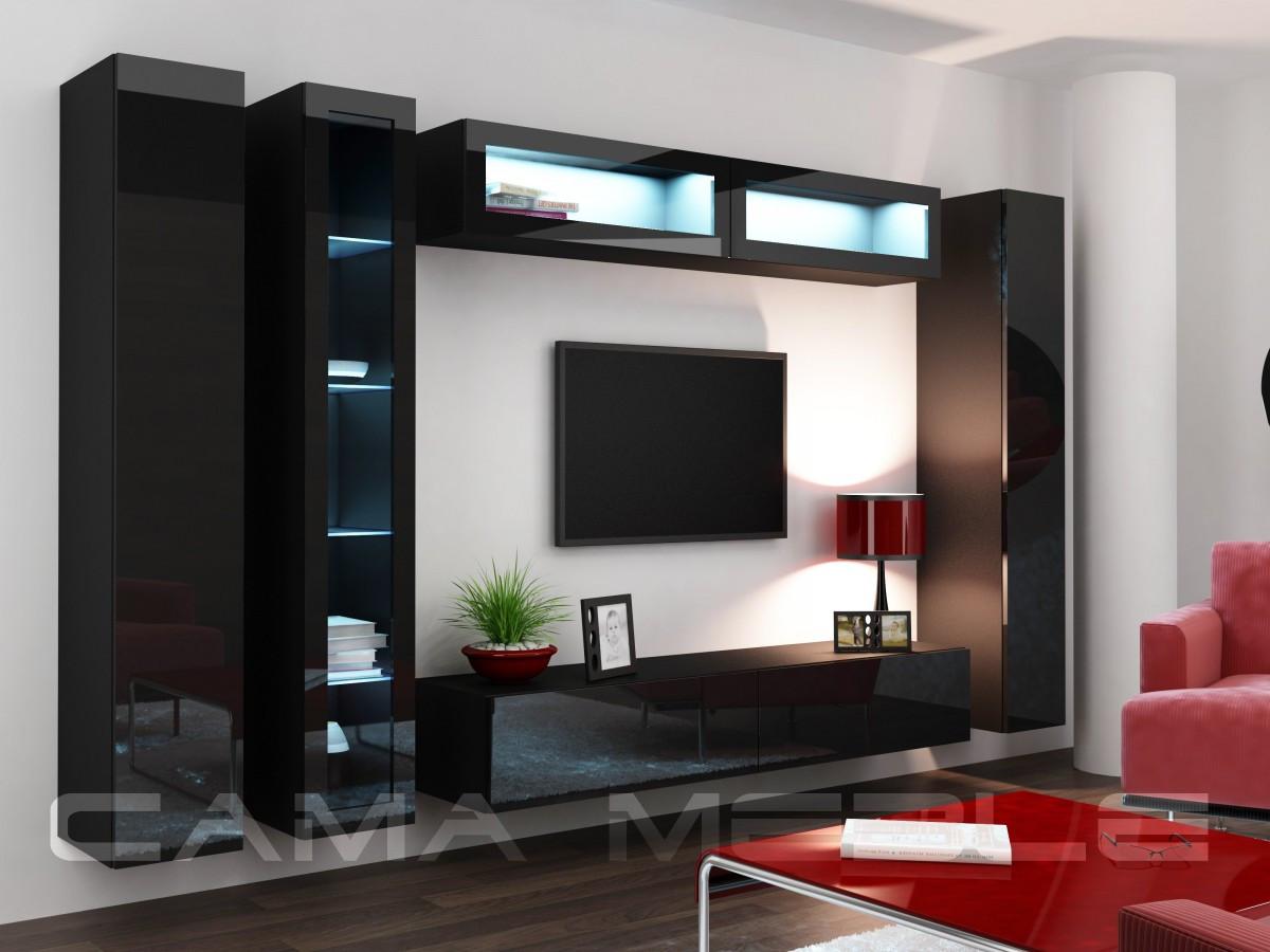 Гостиная Vigo VI Cama черный/черный глянец