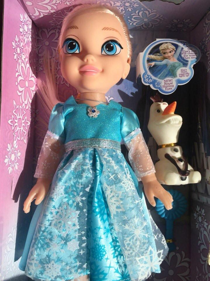Кукла Эльза музыкальная со снеговиком 368