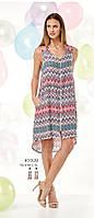 Платье летнее вискозное с геометрическим узором и застежкой на молнии Relax mode.