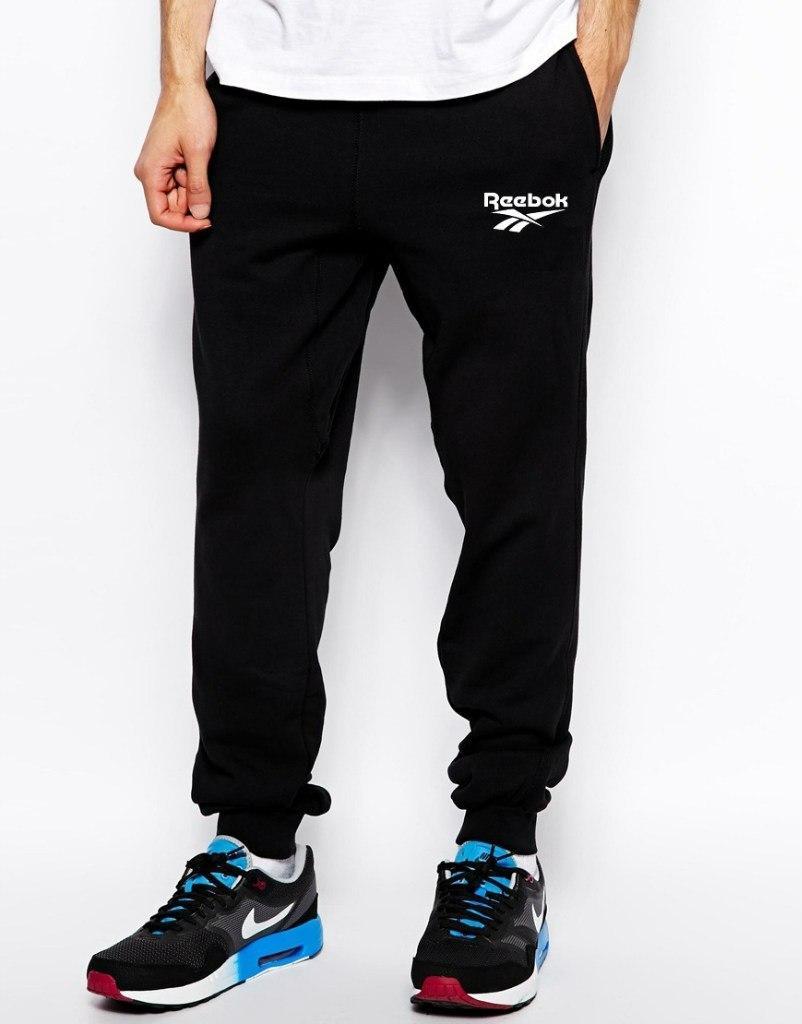 Спортивные штаны Reebok (Рибок), полосы