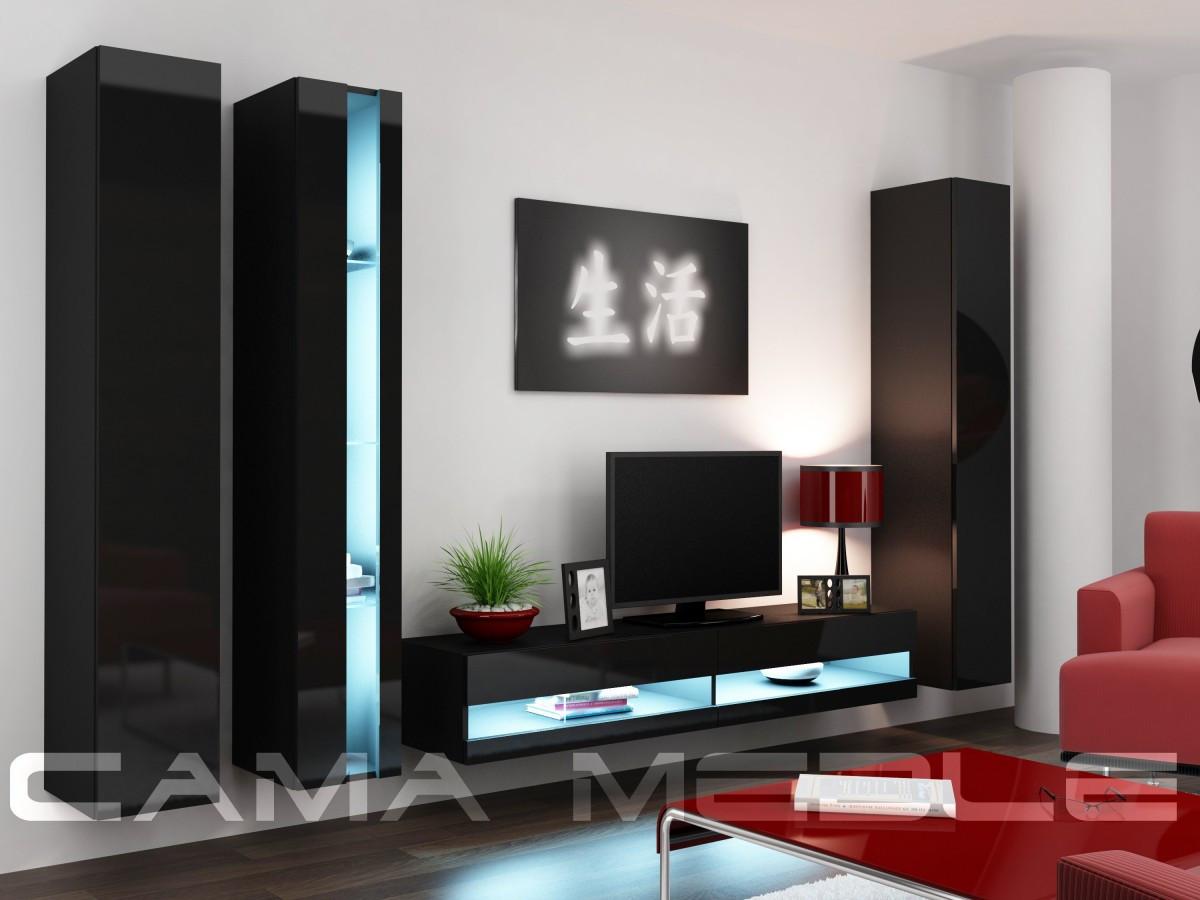 Гостиная Vigo NEW 7 Cama черный/черный глянец