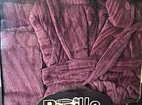 Набор полотенец с халатом pupilla в подарочной упаковке