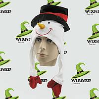 Шапка маска Снеговик