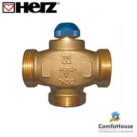 """Трехходовой термостатический клапан HERZ CALIS-TS-RD (1776140) 1"""" распределение потоков до 100%"""