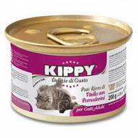 Паштет Kippy Cat для кошек с телятиной и томатами, 200 г