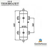 Гидрострелка Termojet СК-28 без изоляции