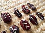 Руны из камня. Пейзажная яшма, 25 символов (XL). Premium Quality., фото 3