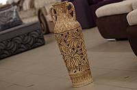 Резная напольная ваза Ксения