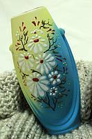 Нежная Желто-голубая ваза
