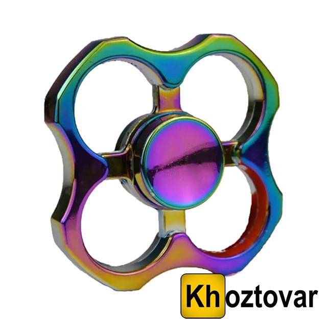 Металлический спиннер Hand Spinner Rainbow Holes | Вертушка с подшипником | Хендспиннер