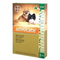 Advocate капли для собак весом до 4 кг