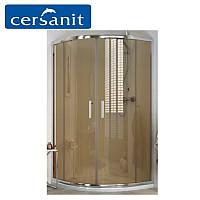 Душ штора Cersanit ONEGA полукруглая, стекло коричневое