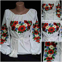 """Красивая вышитая блузка для женщин """"Полевые россыпи"""""""