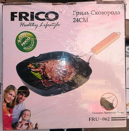 Сковорода-гриль FRICO FRU-062 24 см (складная ручка), фото 2
