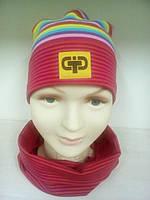 Комплект шапочка и снуд трикотажные для девочки TuTu 3-3607/ 3-003576