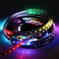 LED лента (пиксельная) 30Led/m SMD5050 7,2W/m 12V IP67 NEW (RGB-pixel в силиконовой трубке)