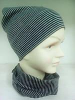 Комплект для мальчика шапка и снуд трикотажные TuTu 3-003101/3-003694