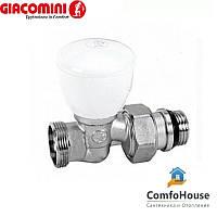 """Клапан прямой Giacomini R27X034 1/2""""х18 с наружной резьбой (ручной клапан)"""