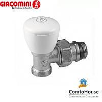 """Клапан угловой Giacomini R25X033 1/2""""х16 с наружной резьбой (ручной клапан)"""