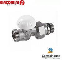 """Клапан прямой отсечной 1/2""""х18 R31TG Giacomini R31X034 с наружной резьбой"""