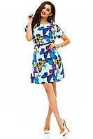 Женское стильное платье с ремнем, софт