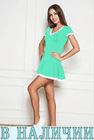 Яркое удобное платье спортивного стиля  с юбкой воланом Kimberly