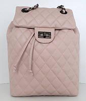 Рюкзак молодіжний, жіночий. 100% натуральна шкіра! Рожевий, фото 1
