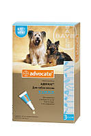 Advocate капли для собак весом от 4 до 10 кг