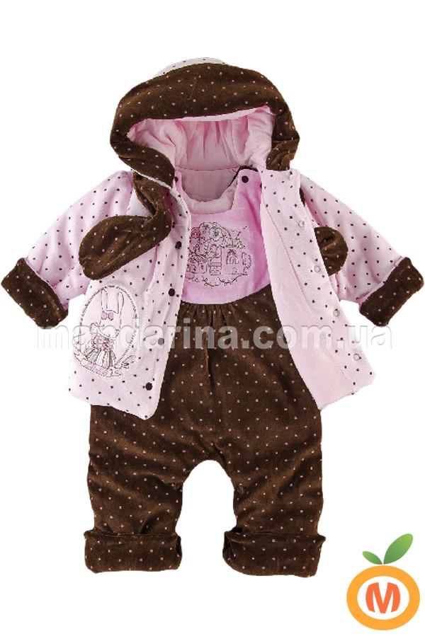 Комплект для девочки: курточка-плащик с полукомбинезоном и шарф - Mandarina.com.ua магазин детской одежды в Запорожье