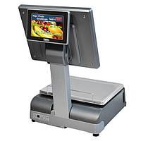 """Весы для печати на этикетке DIBAL CS-1100 W с двумя 15"""" TFT экранами"""