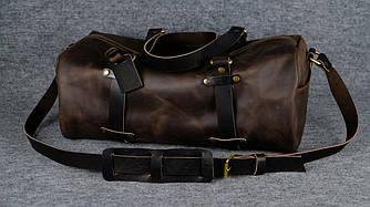 Именная спортивная сумка «Travel»  10155  Винтаж   Шоколад