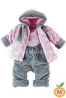 Комплект для девочки: курточка-плащик с полукомбинезоном и шарф