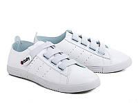 Женская спортивная модная обувь. Кеды женские оптом от фирмы Violeta 80-1 White (8пар, 36-40)