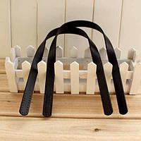 Ручки для сумки Черные кожа пресс 54 см пришивные