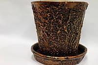 Керамический горшок для растений с паутиной. 1л.