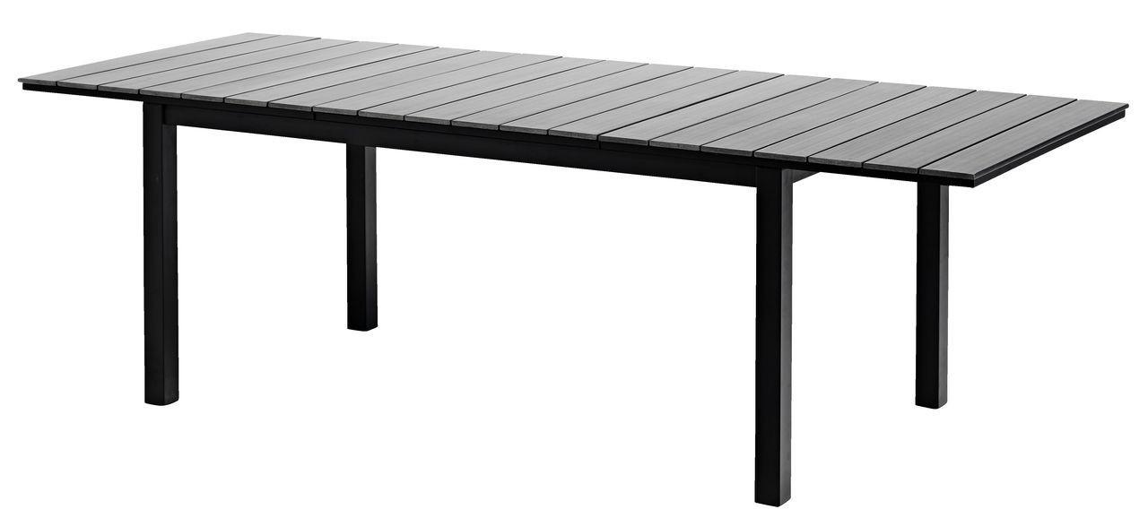 Большой садовый прямоугольный стол раздвижной коричневый из алюминия