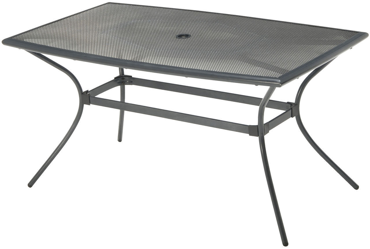 Садовый стол 150 см прямоугольный из алюминия и стали