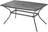 Садовый стол 150 см прямоугольный из алюминия и стали, фото 1